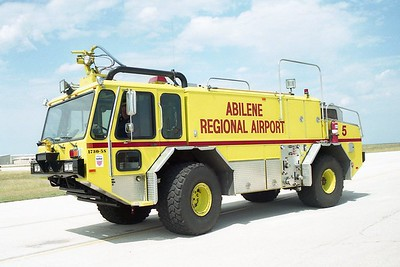 Abilene TX - Airport Rescue 3 - 1990 E One Titan 1250-1500-200F #7423