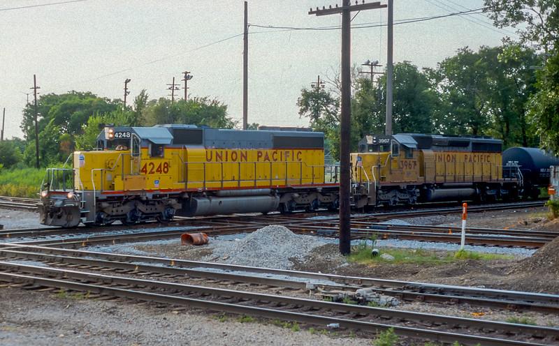 UP 4248 + 3967 Dolton 28 July 1998