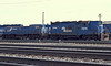 Conrail Geep 7596 and Slug 1017 work the yard at Elkhart on 15 October 1994