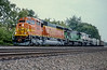 BNSF 9958 + BN 5084 + 9478 Lisle 30 July 1998