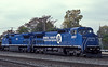 Conrail 6197 and LMS 713 Elkhart 14 October 1994
