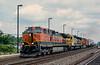 BNSF 1042 + ATSF 5335 + BNSF 1039 Belmont 30 July 1998