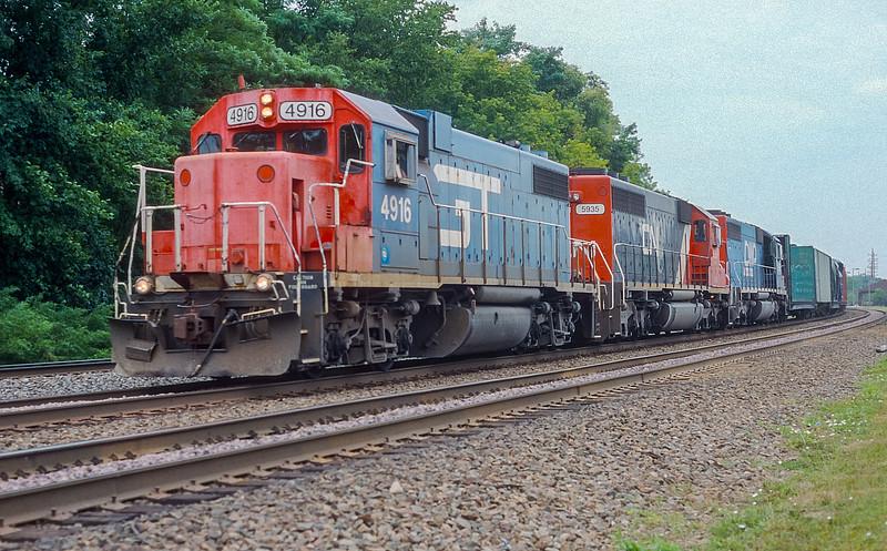 GTW 4916 + CN 5935 + DWP 5906 Lisle 30 July 1998