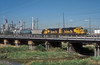 Santa Fe GP50 3193 and GP60 4021 pull a northbound freight through Commerce City on 18 July 1998
