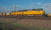 Sitting in the yard at Laramie in the late afternoon of 14 July 1998 were a pair of SD50, Union Pacific 5071 and 5081, both former C&NW units.