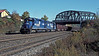 Conrail SD50 6976 and SD40 6299 take a westbound coal train through Grazierville on 17 October 1994