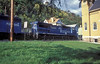 A clear breach of the weight limit! Conrail C40-8W 6087 and SD40 6308 roll through West Brownsville with another load of coal from the Monongahela coalfields on 4 October 1994