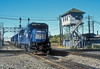 Passing the interlocking tower at Marion on 11 October 1994 are Conrail B40-8 5084, SD50 6833, SD60M 5565 and SD40-2 6515