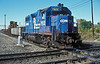 Conrail GP38 7922 is about to clatter across the crossings at Marion on 11 October 1994