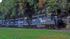 Conrail GP40-2 3306, 3314 and 3324 power an eastbound intermodal around Horseshoe Curve on 30 September 1994