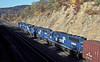 Conrail helpers SD40-2 6368 and 6384 lead train engines SD50 6778 and SD60 6858 as they start to climb toward Horseshoe Curve. Near CP Slope in Altoona on 17 October 1994