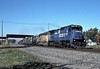 Conrail C40-8 6025 leads Union Pacific SD40-2 3391 through Oak Harbor on 16 October 1994