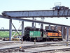 At the rear of Argentine depot, Kansas City are BN 2327 and BNSF 2529 on 20 July 1998