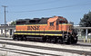 BNSF paint now adorns this Santa Fe GP35 - now numbered 2570 at Topeka on 19 July 1998