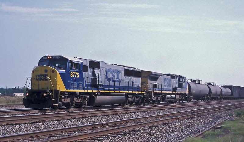 CSX 8775 + 7735 Hamlet 6 October 2002