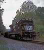 Norfolk Southern B32-8 3550 runs through the woods at Dearmond on 28 September 1999