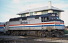 Amtrak F40PH 376 at Joliet on 12 October 1994