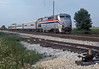 Heading south on the Illinois Central main line at South Askum was Amtrak B42-9PH 81 on 27 July 1998