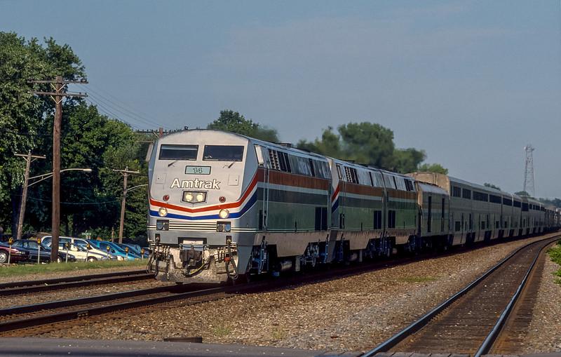 Amtrak 14 + 60 +64 Belmont 30 July 1998