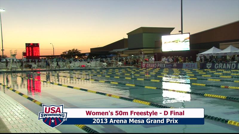 Women's 50m Freestyle D Final - 2013 Arena Mesa Grand Prix