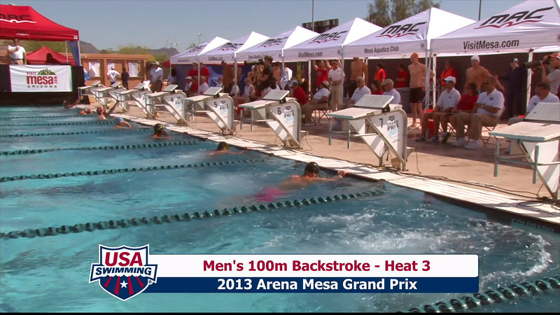 Men's 100m Backstroke Heat 3 - 2013 Arena Mesa Grand Prix