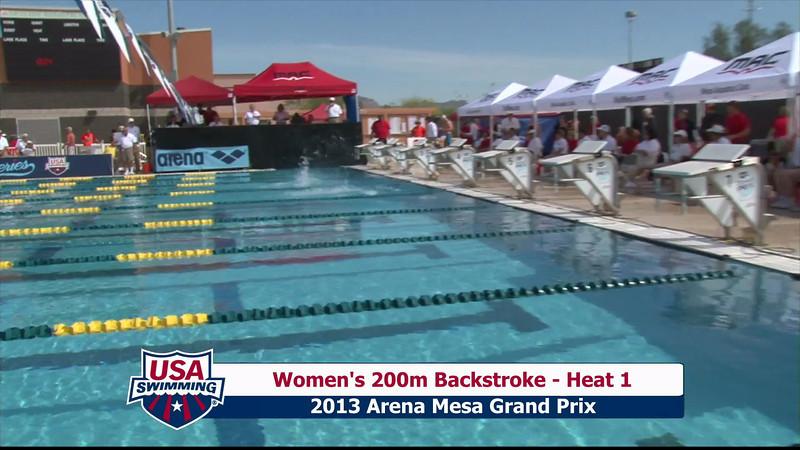 Women's 200m Backstroke Heat 1 - 2013 Arena Mesa Grand Prix