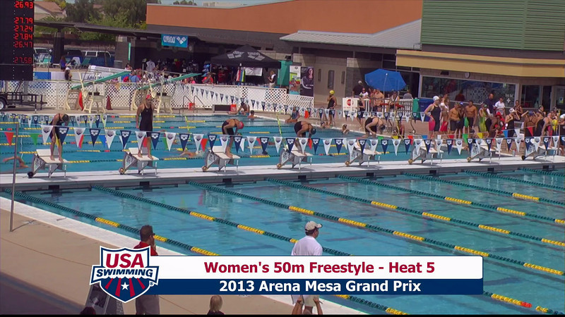 Women's 50m Freestyle Heat 5 - 2013 Arena Mesa Grand Prix