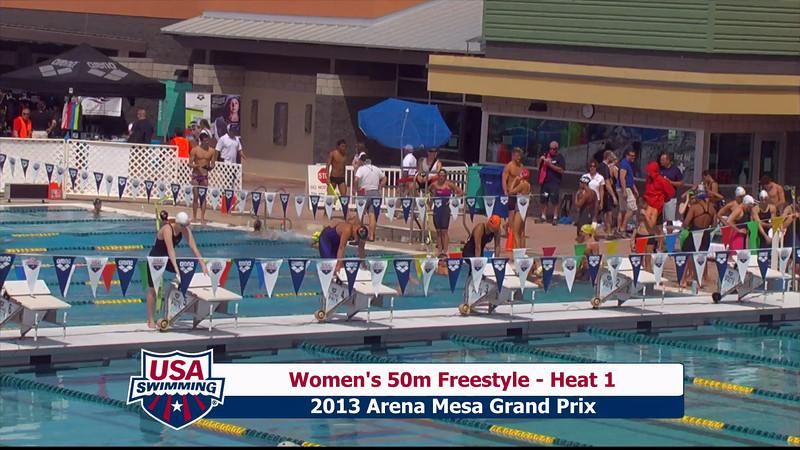 Women's 50m Freestyle Heat 1 - 2013 Arena Mesa Grand Prix