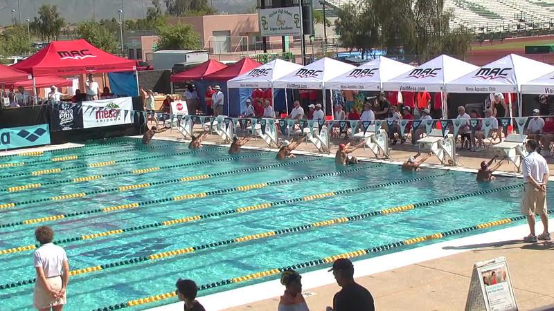 Men's 100m Backstroke Heat 4 - 2013 Arena Mesa Grand Prix
