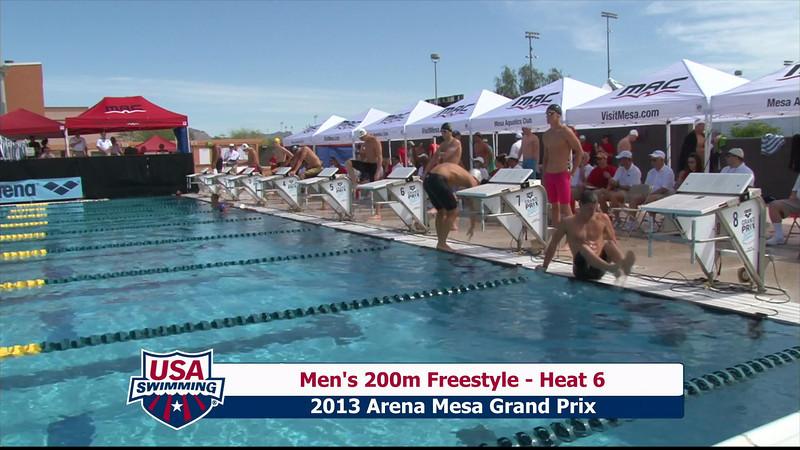 Men's 200m Freestyle Heat 6 - 2013 Arena Mesa Grand Prix