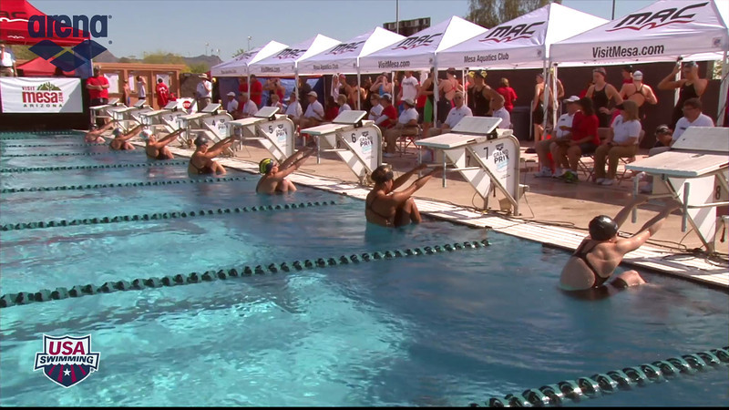 Women's 100m Backstroke Heat 3 - 2013 Arena Mesa Grand Prix