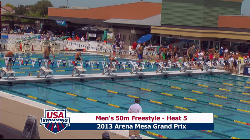 Men's 50m Freestyle Heat 5 - 2013 Arena Mesa Grand Prix