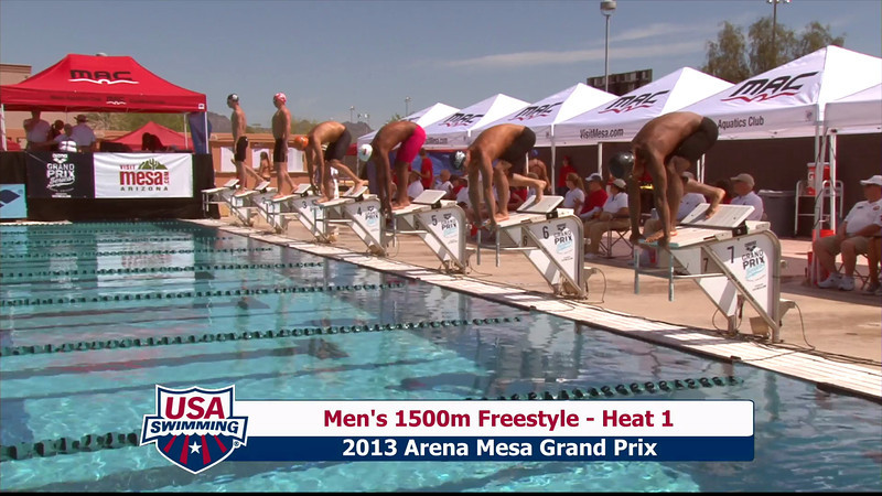 Men's 1500m Freestyle Heat 2 - 2013 Arena Mesa Grand Prix