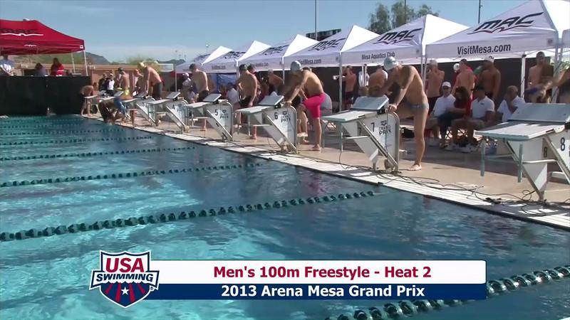 Men's 100m Freestyle Heat 2 - 2013 Arena Mesa Grand Prix