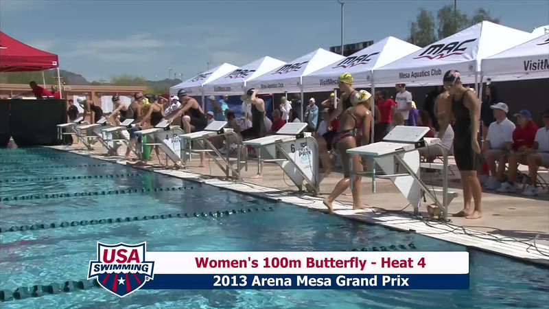 Women's 100m Butterfly Heat 4 - 2013 Arena Mesa Grand Prix