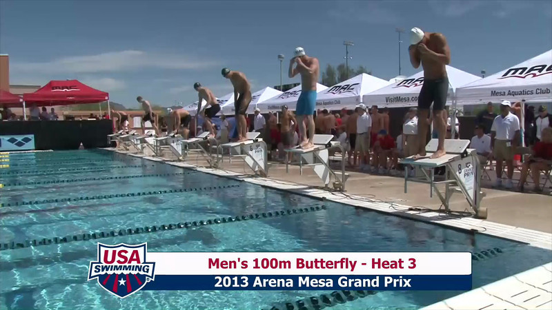 Men's 100m Butterfly Heat 3 - 2013 Arena Mesa Grand Prix