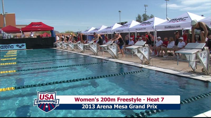 Women's 200m Freestyle Heat 7 - 2013 Arena Mesa Grand Prix