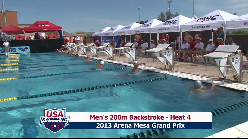 Men's 200m Backstroke Heat 4 - 2013 Arena Mesa Grand Prix