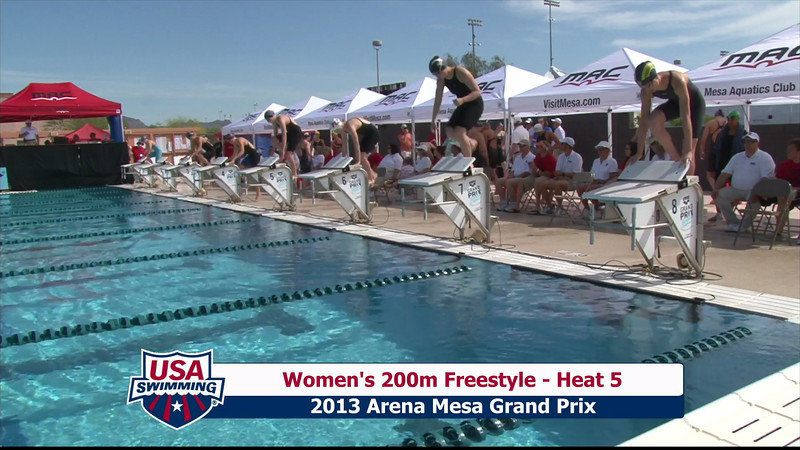 Women's 200m Freestyle Heat 5 - 2013 Arena Mesa Grand Prix