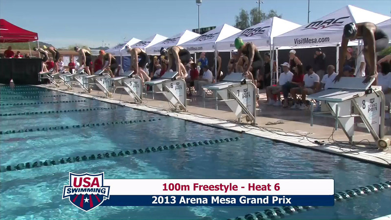 Women's 100m Freestyle Heat 6 - 2013 Arena Mesa Grand Prix