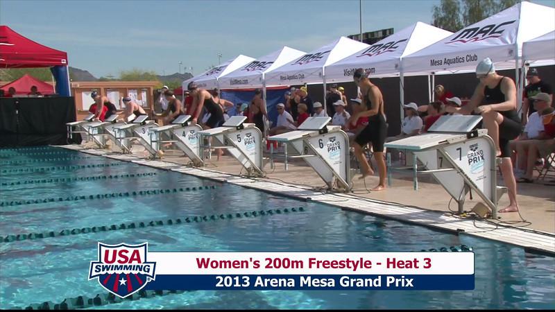 Women's 200m Freestyle Heat 3 - 2013 Arena Mesa Grand Prix
