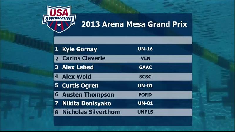 Men's 200m Individual Medley B Final - 2013 Arena Mesa Grand Prix