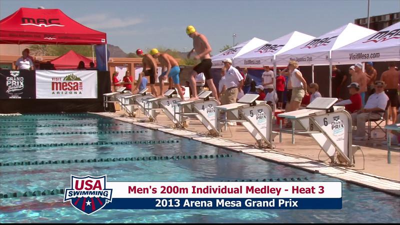 Men's 200m Individual Medley Heat 3 - 2013 Arena Mesa Grand Prix