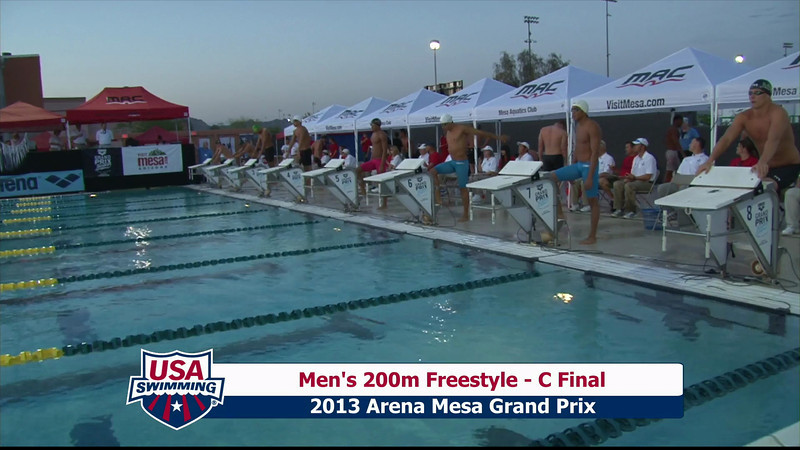 Men's 200m Freestyle C Final - 2013 Arena Mesa Grand Prix