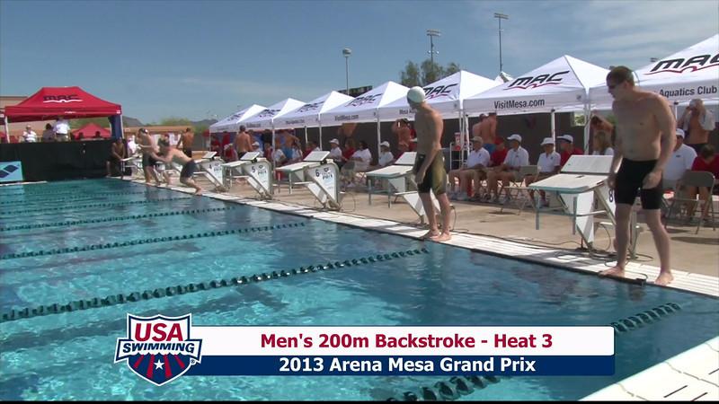 Men's 200m Backstroke Heat 3 - 2013 Arena Mesa Grand Prix
