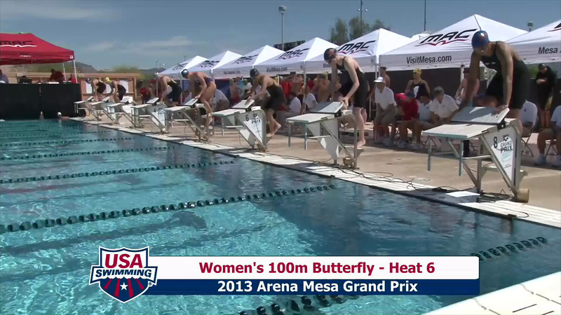 Women's 100m Butterfly Heat 6 - 2013 Arena Mesa Grand Prix
