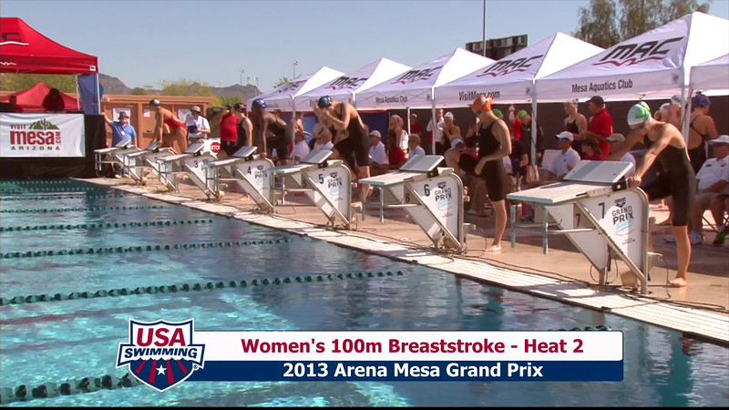 Women's 100m Breaststroke Heat 2 - 2013 Arena Mesa Grand Prix