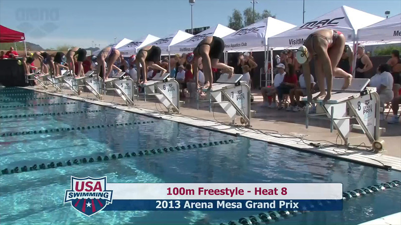 Women's 100m Freestyle Heat 8 - 2013 Arena Mesa Grand Prix