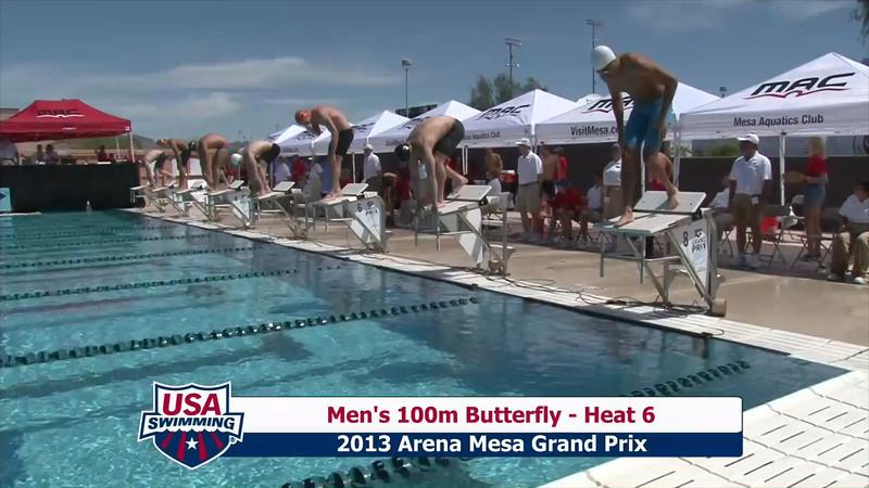 Men's 100m Butterfly Heat 6 - 2013 Arena Mesa Grand Prix