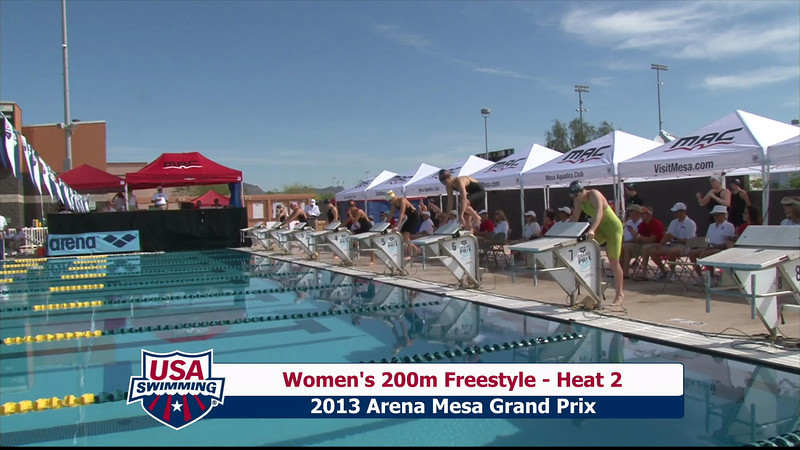 Women's 200m Freestyle Heat 2 - 2013 Arena Mesa Grand Prix